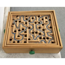 Vintage 1960 Space Maze Game by Drueke U.S.A. w/Box, Marble Game